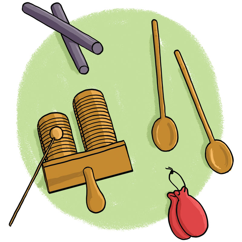 instruments to make different sounds