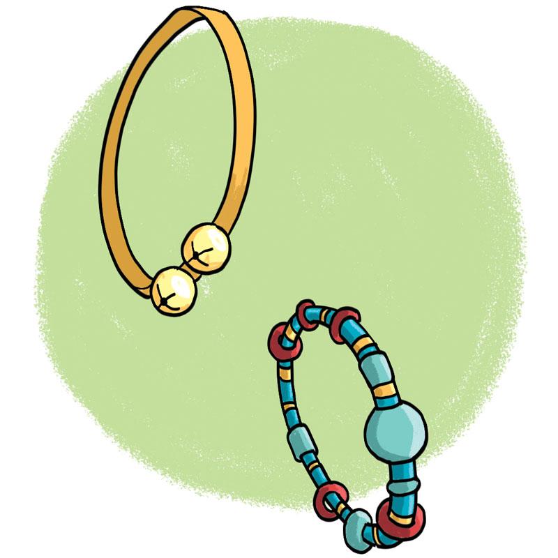 Bracelets as sound makers